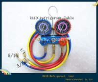 "R410a Manifold Gauges Freon Refrigerant 3 x 60"" Color Coded Charging Hoses  HVAC Halogen Diagnostic Tools"
