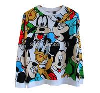2013 New Autumn Winter Fashion Clothing Set Women Casual Hooded Sweatshirt Mickey Mouse Sport Costume Female Hoodies