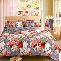 sanded cotton bedding set bedclothes queen twin size comforter/duvet/quilt cover sheet pillowcase 4pc bedcover sets
