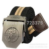 2014 south Korean men fashion stripe canvas belt,men's Lady leisure joker thickening lengthen belts,male Military belts girls