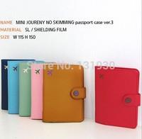 No skimming passport case+Monopoly mini journey passport wallet+PU tickets&receipt pocket 6 colors MN009