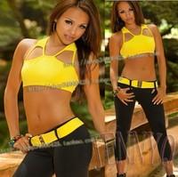 r sport clothing! Genuine JennyQ fitness wear / aerobics aerobics clothing / clothing / belly dance set of yoga clothing