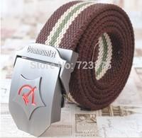 2014 new brand men fashion canvas belt,men's women leisure joker thickening lengthen belts,male Military belts