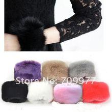 Winter Faux Fur Oversleeve Wrist Arm Warmer Cuff Cover Fuzzy Furry Wristband Hand Muff(China (Mainland))