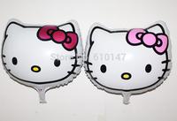 Free shipping 50pcs/lot Mix colors hello kitty foil balloon party decoration balloon