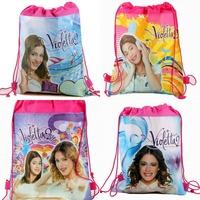 12pcs new violetta 2 mochila Kids Children string Drawstring Print Backpack Shopping School Travel fabric Party Favor Gift bags