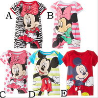 new arrival leopard print baby girls romper clothes clothing set kid romper products Mickey Minnie baby jumpsuit good gift