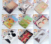 "Cute Cartoon Flip PU leathet Case Cover with Stand holder For Samsung Galaxy Tab 4 10.1"" T530 T531 Free Shipping"