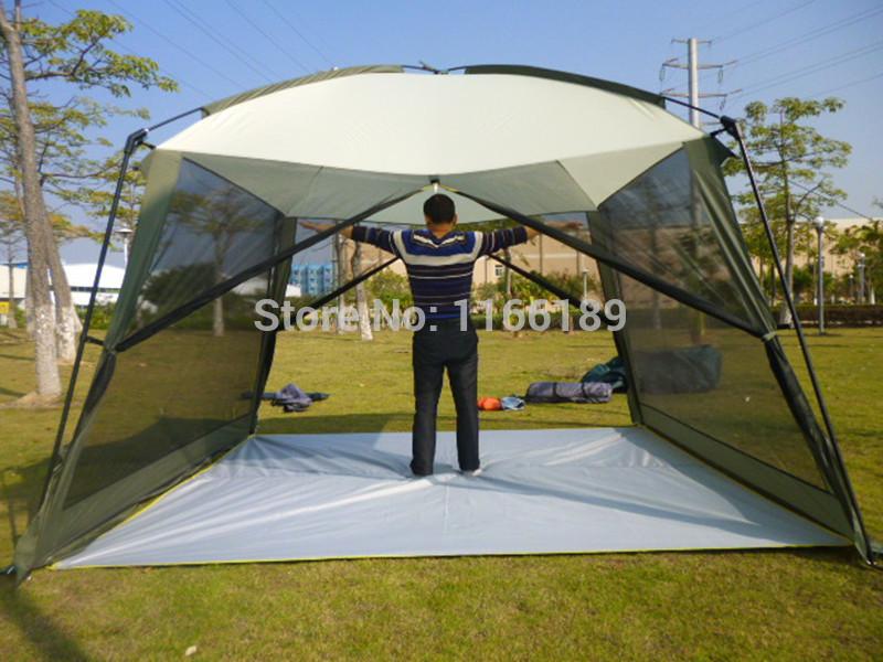 Grote tenten kamperen wandelen vissen casual outdoor recreatie spel kaarten schaduw prieel anti- muskietengaas feesttent 320*320*240cm