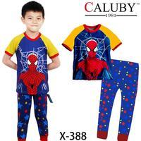 Boys Spiderman Clothing Set Kids Autumn -Summer Pajamas Sets New 2014 Wholesale Children Cartoon Short Sleeve Pyjamas X-388