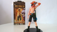 Free shipping anime cartoon figures ONE PIECE Monkey D Luffy Portgas D Ace models  Luffy and Ace PVC one piece model