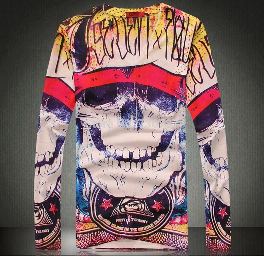 [해외] 2015  Mens Knitted  Pullovers Abstract Devil 3D Pri..