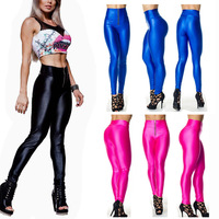 NEW dance pants Sexy Shiny High Waisted Stretchy Disco Dance Leggings Pants 4 Size 8 Color free shipping