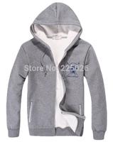 2XL Big Yards 2014 Autumn And Winter Casual Men Hoodies And Sweatshirts Hooded Jackets Coat Warm Plus Thick Fleece Hoodies Men's