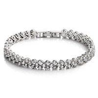 hot sale romatic Korea style small size delicate jewelry unique design heart shaped zircon roman bracelet women