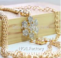 Free Shipping Fashion Metal Golden Flower Rhineston Women's Chain Belt Female Waistband Cummerbund for girl