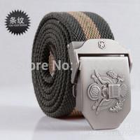 2014 south Korean Men's Western Sports canvas Belt Outdoor Fashion Tactical Webbing Belt Free Shipping