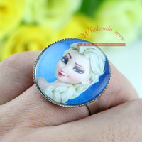 Free shipping 24pcs/lot Big size Frozen princess Elsa/Anna Ring,Let it go,Ring for Kid's and Adult,Wholesale