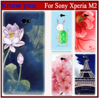 The Exclusive Design Cartoon comic hard print Plastic protector cover phone case For sony xperia m2 case fit sony_xperia m2