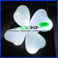 Free shipping 50pcs/lot 12inches heart white LED balloon helium inflatable light up balloon latex balloon for Wedding Decoration