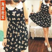 2013 new fashion Summer casual cotton dress for women, women's pattern dresses free shipping.