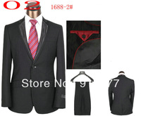 New 2014 Fashion Mens Suits With Pants Men Brand groom suit For Wedding  (Coat + Pants) Big Size S M L XL XXL XXXL Free Shipping