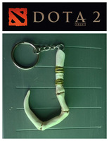 10 PCS/LOT Defense of the Ancients DOTA2 Keychains Pudge Inscribed Dragonclaw Hook Dota 2 keychain 2 colors free shipping
