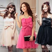 2014 Korean American lace fat MM dress dinner butterfly knot wedding night dress 8895