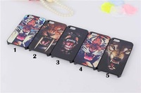 10pcs/lot  Fashion Animal Tiger Leopard Wolf Hard Cover Back Case For iphone 5 5s Cool