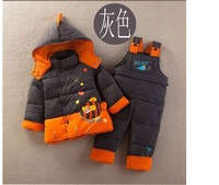 Winter next newborn baby girls boys clothes,children's hooded down suits,kids sports thick clothing sets for baby,free shipping