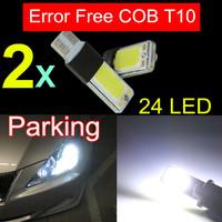 2x Bright Error Free High Power T10 Led 168 W5W 24Led COB LED Interior Light Parking Led License Lamp Backup Light Canbus White