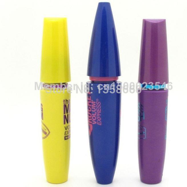 2014 3pcs/lot Professional Makeup new Mascara Volume Express COLOSSAL Mascara with Collagen free shipping(China (Mainland))