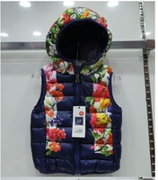 2014 new girls children waistcoats baby thickening Vest Kids winter outerwear clothing Free shipping 3 colors