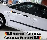 Skoda Octavia yeti new superb fabia rapid car stickers Decorative modification stickers garland color paste Door stickers