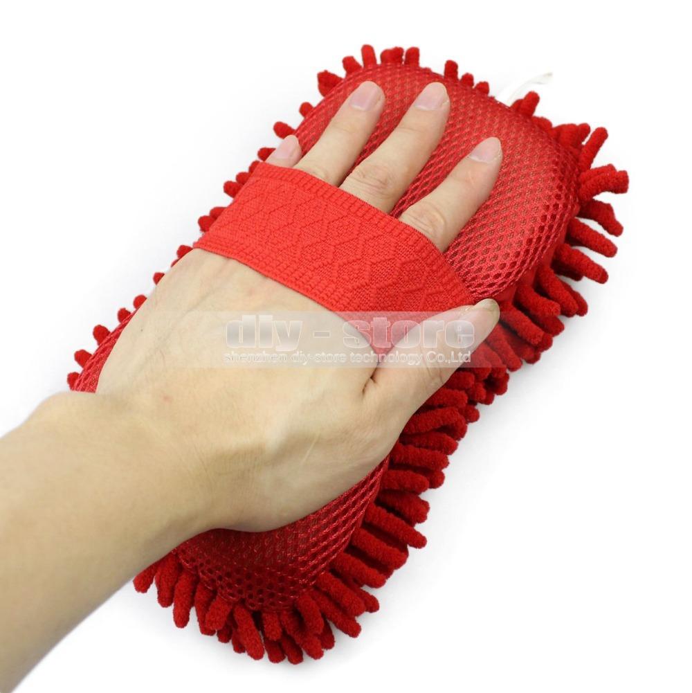 Wholesale Hot New Ultrafine Fiber Sponge Chenille Anthozoan Car Wash Gloves Car Wash Supplies Multi-function General(China (Mainland))