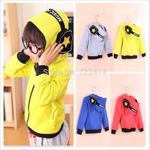2014 New Style Kids Jackets Coats Boys girls Coat And Jacket For Children Spring Autumn Hooded Sweater Zip Jacket Coat (China (Mainland))