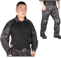 Men Military Paintball Combat Kryptek Typhon Emerson G3  Tactical Uniform Shirt Pants Knee Pads