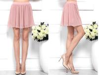 2014 women summer dress short skirt elegant sweet candy color bust skirt a-line skirt pleated skirt