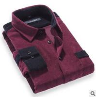 2014 new arrive top quality casual shirts men's striped 7 colour xs -3xl 100% cotton shirts 43