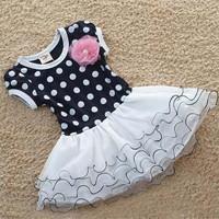 Nova baby girl dress summer dress 2014 Retail  New kids dress polka dot dress