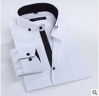 free shipping top quality men's shirt 2014 new arrive full sleeve 100% cotton men clothes shirts 38