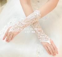 Free Shipping! Fashion Rhinestone Bridal Dress Long Design Gloves Bandage Fingerless Lucy Rhinestone Wedding Gloves