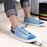 Free Shipping Fashion Men Canvas Shoes European Style Fashionable Men Sneakers Summer Flats Shoes