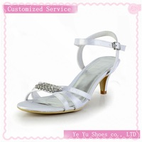 Size 34-41. Fabulous Brides Tops Brand New Pretty Satin Stiletto Heel Sandals with Rhinestone Wedding Shoes(More Colors)