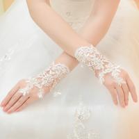 Free Shipping! Fashion Lace Fingerless Bridal Short Design Gloves Wedding Glove