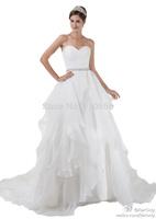 FairOnly 2014 New Fashion Custom Elegant Sweetheart Sequin Court Train Wedding Dress Bridal Gown