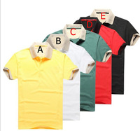 2014 new arrival free shipping mens fashion short sleeve t shirt 5 color size :M L XL XXL