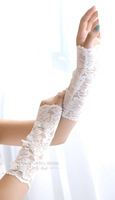 Free Shipping! Wedding Accessories Fashion Lace Flower 20CM Long Lucy Refers To Short Fingerless gloves