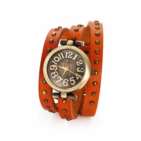 New Fashion Watches & Clocks 2014,Brown Long Watchband Free Shipping,Vintage Characteristic Watches for Women