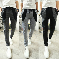 Casual men's clothing new arrive autumn pants skinny color block wei pants harem pants sports long trousers male